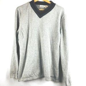 DKNY Gray V Neck Pullover Sweater